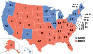 2000 U.S. Presidential Election Map