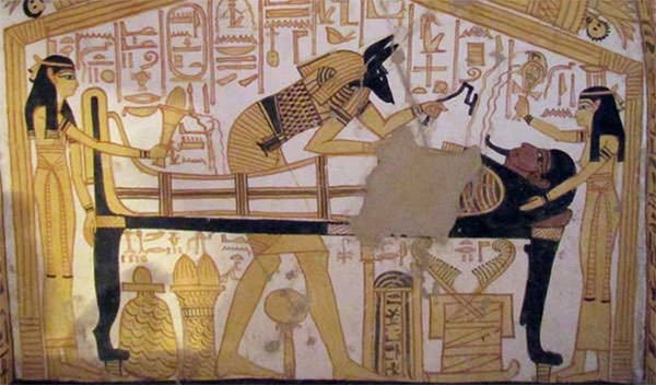 Isis, Nephthys and Anubis