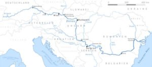 Danube tributaries map