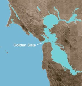 Golden Gate Strait On Map