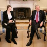 George W Bush with Helen Clark