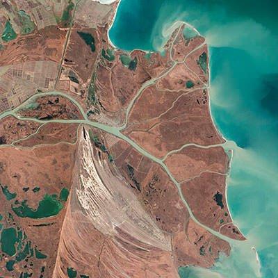 Danube Delta Satellite Image