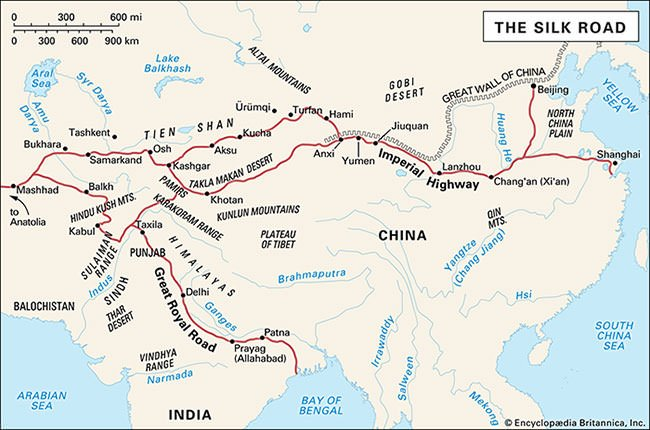 The Silk Road Map