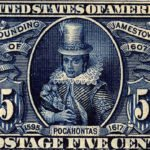 Stamp featuring Pocahontas