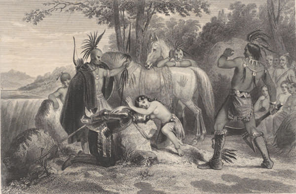 Depiction of Pocahontas