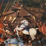Niccolo da Tolentino unseats Bernardino della Carda at the Battle of San Romano (1460)