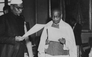 Sardar Patel taking oath of office