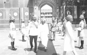Sardar Patel with the Maharaja of Jaipur