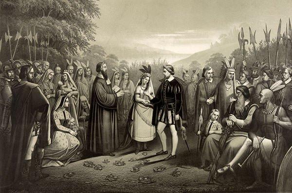 Depiction of Pocahontas
