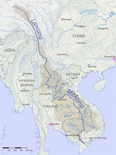 Mekong River Basin Map