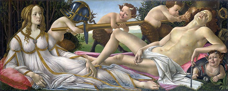 Aphrodite and Ares - Painting by Sandro Botticelli