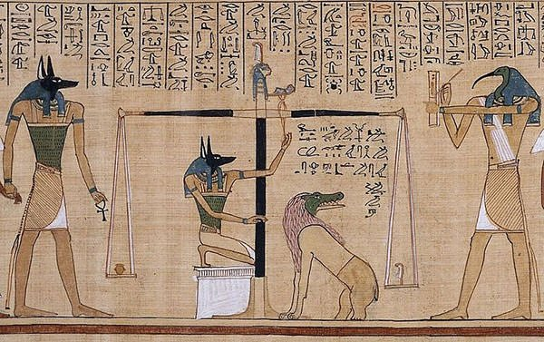 Weighing of the Heart Anubis and Thoth