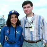 Kalpana Chawla with her husband