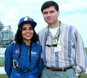 Kalpana Chawla with her husband