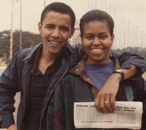 Michelle Robinson and Barack Obama