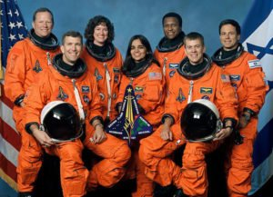 The crew of STS-107