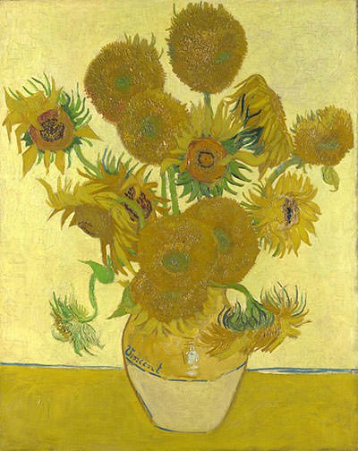 Vase with Fourteen Sunflowers (1888)