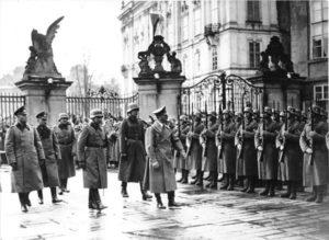 Adolf Hitler at Prague Castle in 1939