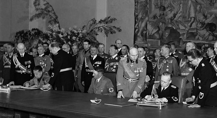 Signing of the Munich Agreement, 1938