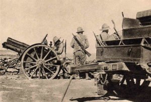 Italian artillery in Ethiopia in 1936