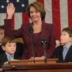 Nancy Pelosi taking oath as Speaker, 2007