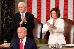 Nancy Pelosi tearing Trump address