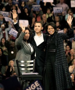 Oprah Winfrey with Barack and Michelle Obama