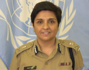 Kiran Bedi in police uniform