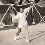Kiran Bedi while playing tennis