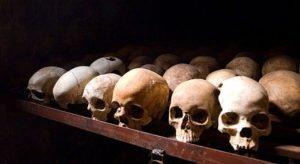 Nyamata Genocide Memorial skulls