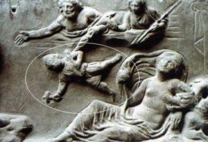 Hephaestus being thrown off Olympus