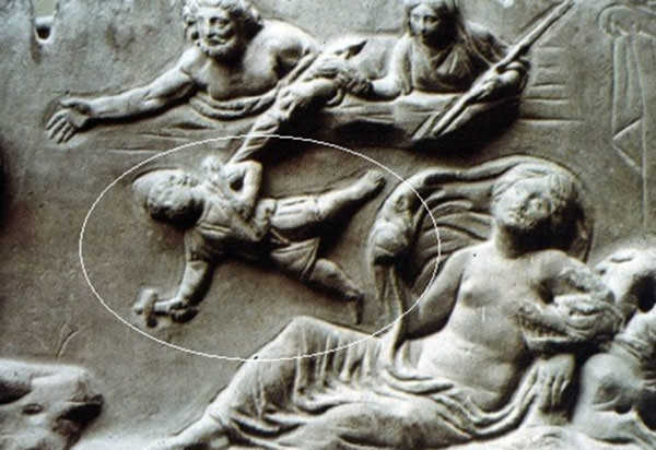 Hephaestus being thrown off Olympus