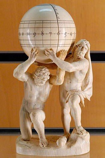 Atlas and Hercules statue