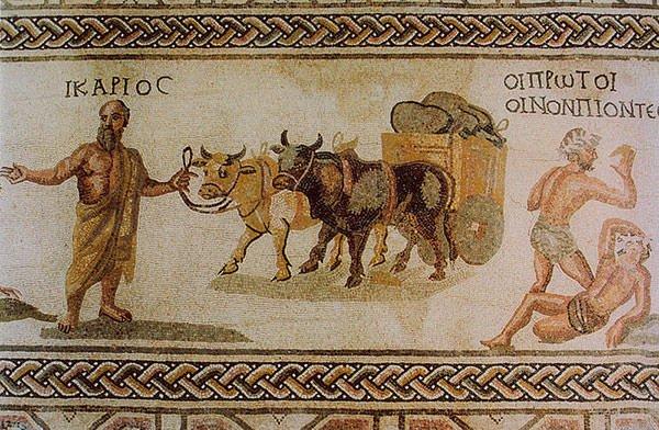 Icarius transporting wine