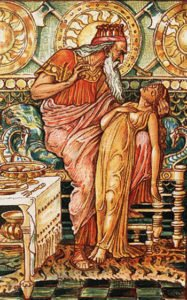 King Midas with his daughter