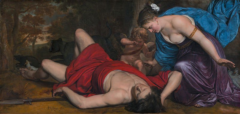 Aphrodite mourning the death of Adonis