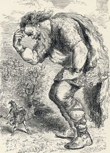 Giant Skrymir and Thor