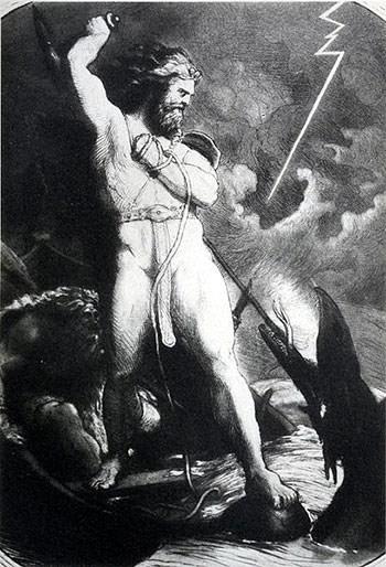 Thor, Hymir and Jormungandr