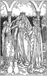 Thor dressed as Freyja