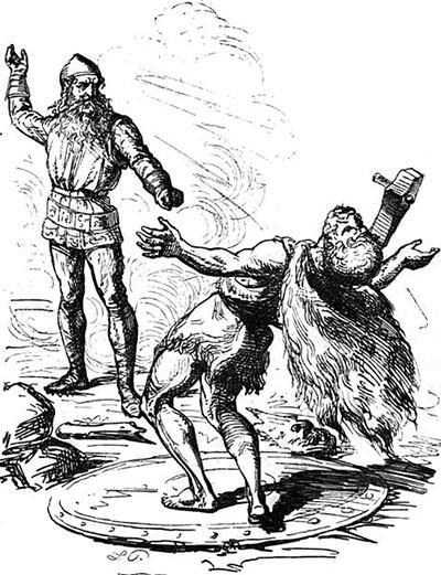 Thor slays Hrungnir