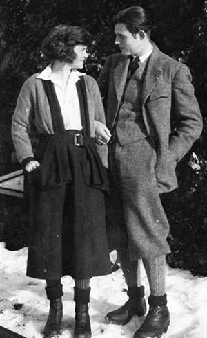 Ernest Hemingway with Hadley Richardson