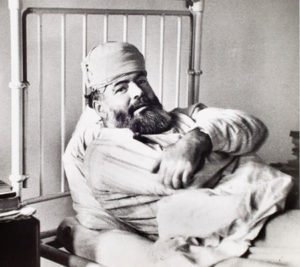 Ernst Hemingway injured
